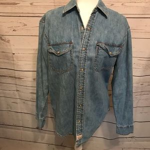 LEVIS RIVETED SNAP DOWN TOP